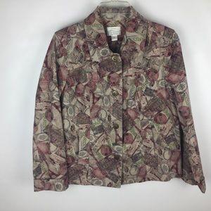 Christopher&Banks Paris Theme Jean Style Jacket  S